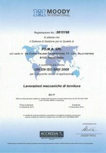 certificatoISO9001_2014
